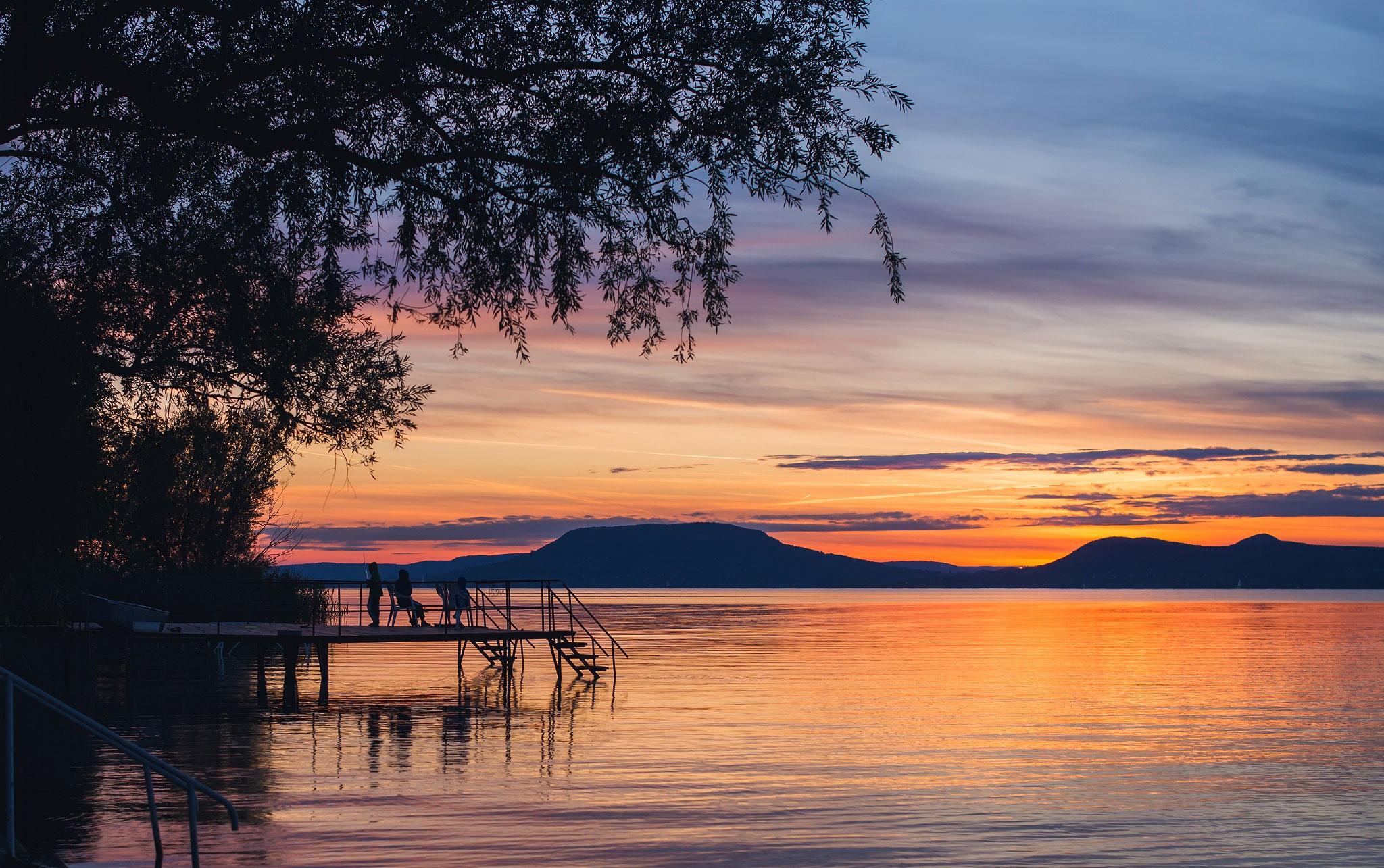 the lake balaton by - photo #47